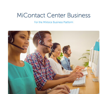 Discover Mitel MiContact Centre Business