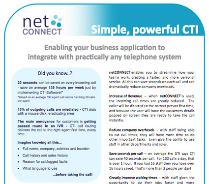 netCONNECT CTI