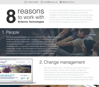 8 Reasons to work with Britannic Technologies