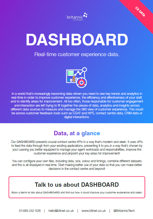 DASHBOARD product description PDF