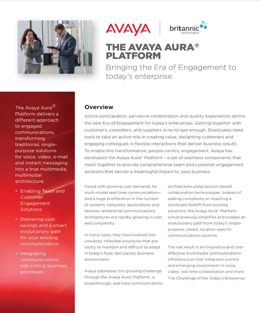 Avaya Aura Platform Overview Brochure