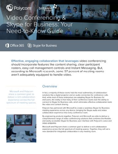 Polycom Video Solutions for Skype for Business