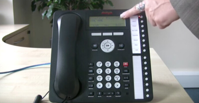 Add, use & change contacts - Avaya IP Office 1616 series telephone