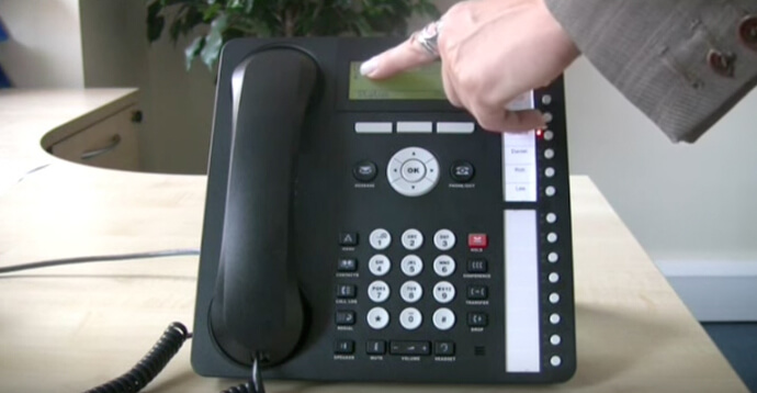 Forwarding calls - Avaya IP Office 1616 series telephone