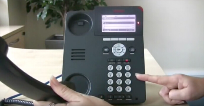 Make a call - Avaya IP Office 96 series telephone