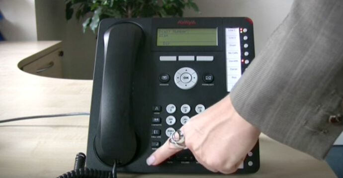 Making and ending a call - Avaya IP Office 1616 series telephone