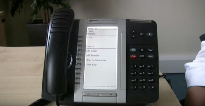 Programmable keys - Mitel 5330 IP telephone