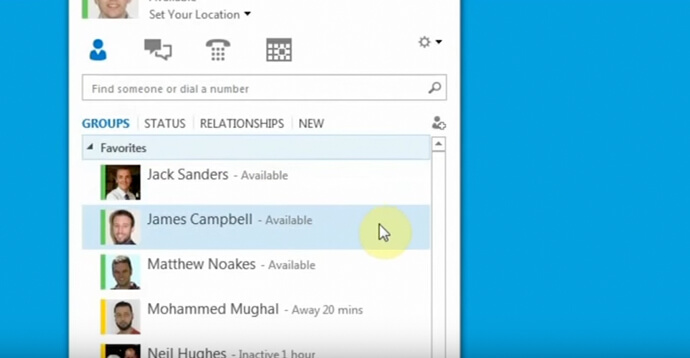 Skype for Business: Ability to see presences