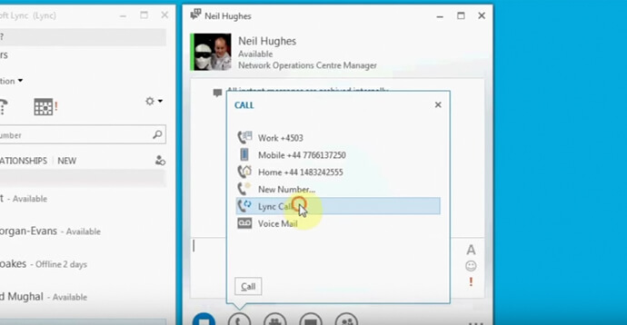 Skype for Business: Initiate an Ad Hoc Audio Meeting with Multiple Users