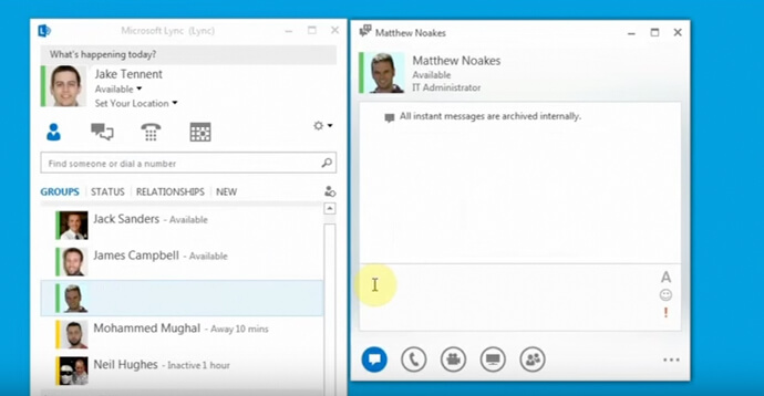 Skype for Business: Send and receive an IM