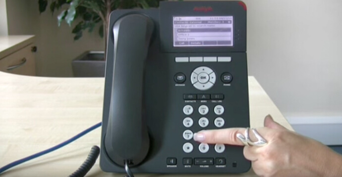 Using the directory - Avaya IP Office 96 series telephone